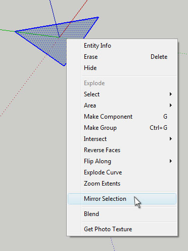 Mirror tool google sketchup plugin review sketchup for Mirror in sketchup