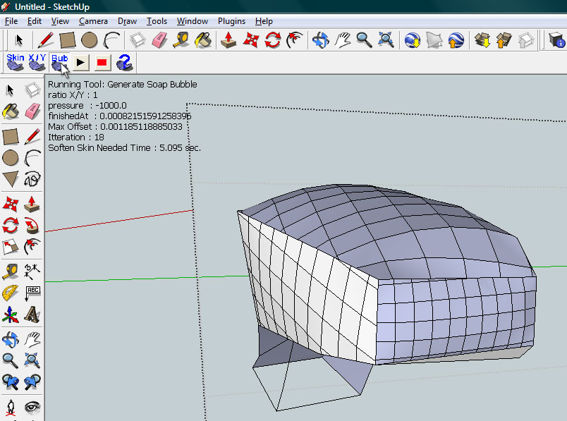 Quick complex shapes in sketchup with soap skin and bubble youtube.